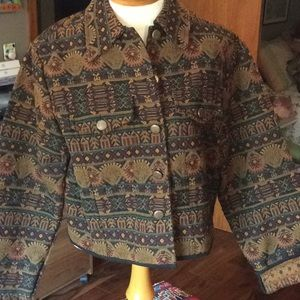 Vintage Passports of Pier 1 Imports Cropped Jacket